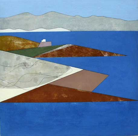26. Attica Headlands 6 2012 61 x 61 cms acrylic on plywood £2,000