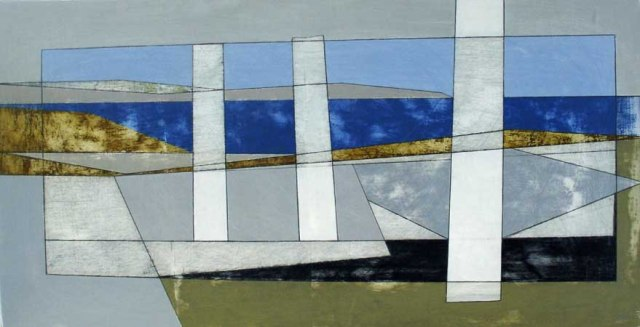 3. Delos 9 2012 30 x 57 cms acrylic on board £1,200