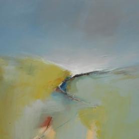 Boo Mallinson Peaceful path, 61cm x 61cm, mixed media on canvas