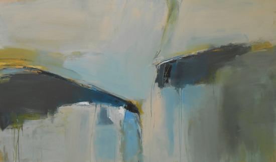 Boo Mallinson  Shapley Land II, mixed media on canvas, 91cm x 152cm £2,200