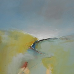 Boo Mallinson Peaceful Path, 61cm x 61cm, mixed media on canvas SOLD