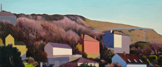 Alex Lowery Portland 100, 2014, 50 x 120cm, oil on canvas £4,500