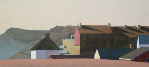 West Bay 255 2012 35x75cm oil on linen