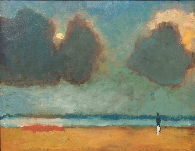 Alfred Stockham Moonlit Beach 2015  8 x 10inches  oil on canvas board £2600