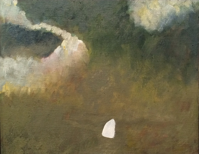 Alfred Stockham Yacht and Clouds - Evening 2015 8 x 10 inches £2600