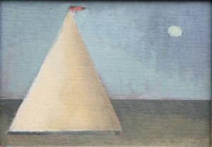 Baltic Skiff Alfred Stockham 2012 oil on canvas board 5 x 7in 13x18cm £2950