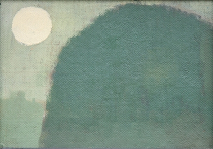 Hill and Moon Alfred Stockham 2012 13x18cm SOLD