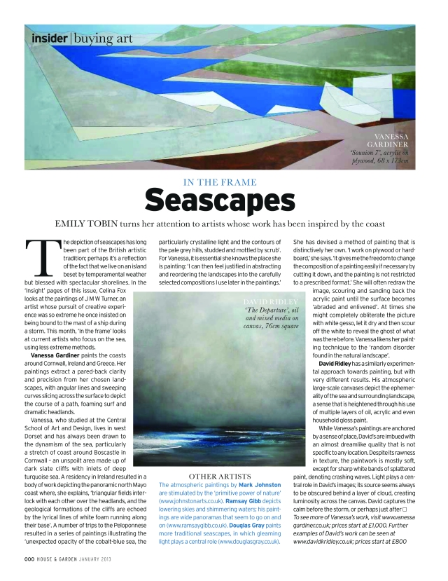 Insider Buying Art House and Garden January 2013