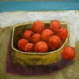 Oranges Simon Garden 30 x 30cm oil and acrylic on panel £2,100
