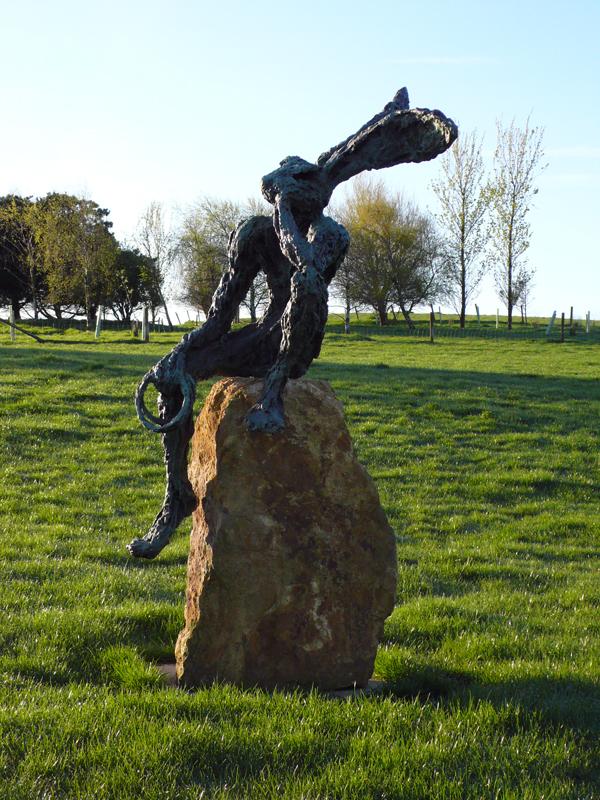 Clare Trenchard  Resting Juggler edition of 12 ht 175 cm (215 cm on plinth)  bronze resin £4100 bronze £16500
