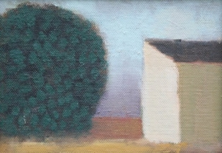 Tree and Lake House 5 x 7 inches 13 x 18cm