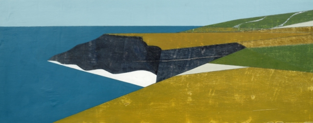 Vanessa Gardiner 10. Beeny Cliff 9 2014 acrylic on plywood 26 x 66 cm £2200