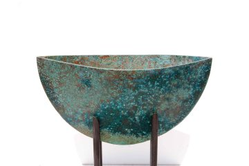 Lunar Observation 2013 16x9x5cm patinated copper