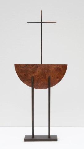 Brendan The Voyager 2014-17x8x3 cm- burr Elm and bronze £220