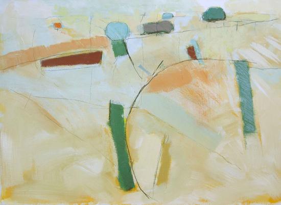 David O'Connor  Walking Up  2014  84 x 60 cm  acrylic on canvas  £1,700