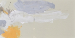 West Bay for 9 Angela Charles acrylic and coloured pencil on wooden panel 15 x 30cm £315