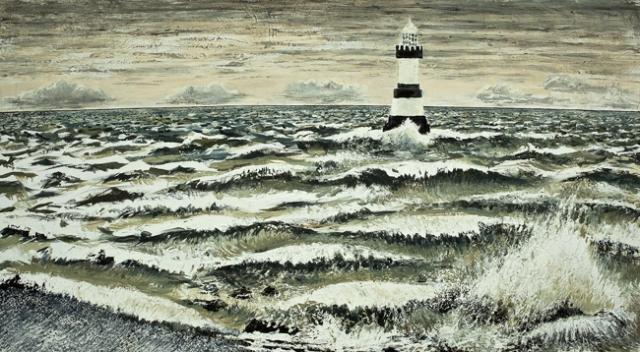 Waves, Lighthouse