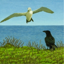 David Inshaw Gannet and Raven