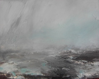 A Steked Stomba o Mist IV Janette Kerr oil on canvas mounted on board £1,000