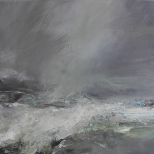 Heavy Sea Running Janette Kerr 60 x 60cm oil on canvas £2,500