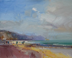 Summers Day, Charmouth Beach David Atkins oil on board 30 x 36cm £1,400