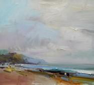 Walking on the Beach, Charmouth David Atkins oil on board 41 x 46cm £1,950