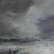 Wild Day - Unst Janette Kerr oil on canvas 80 x 80cm £4,000