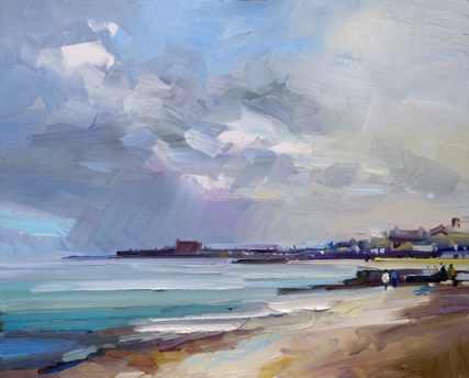 Lyme Regis David Atkins oil on board 24 x 30in 61 x 76cm £3,200