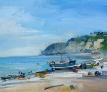 The Beach at Beer David Atkins 24 x 28in 61 x 71 cm £3,100