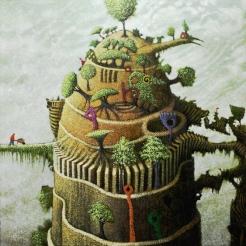 The Gardener by Simon Garden 90 x 90cm £6,000