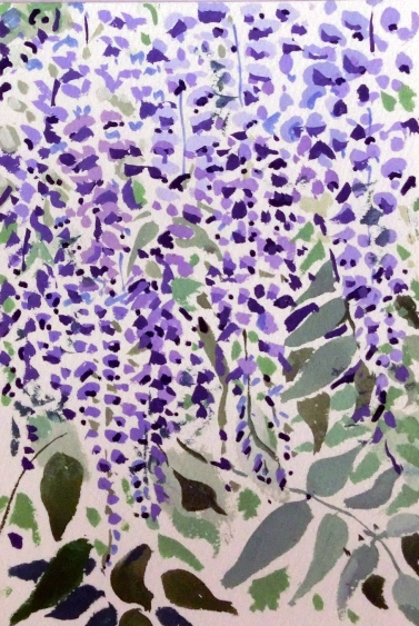 Wisteria Light Study II Tim Cumming 7 x 5 in gouache on paper £150