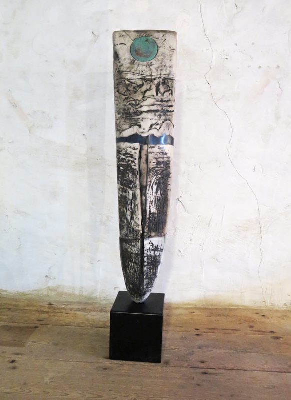 Peter Hayes 1 Raku Standing Stone 127 x 23 cm £3600