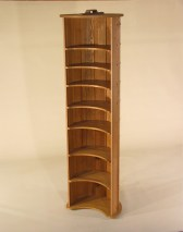 Barrell Bookcase in Ash copper rivets