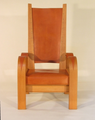 Deco Reading Chair in Oak