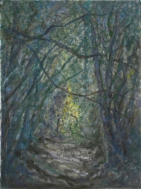 John Hubbard Sunken Lane I oil on paper