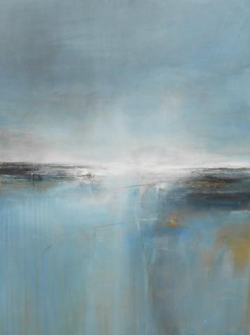 Boo Mallinson Peaceful Sea, 123 x 91cm, mixed media on canvas £2,000