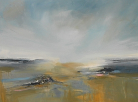 Dorset Beach, mixed media on canvas, 90cm x 122cm, £1,800