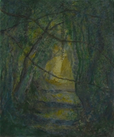 John Hubbard Sunken Lane 2 oil on paper 2011