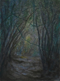 John Hubbard Sunken Lane 3 oil on paper 2011