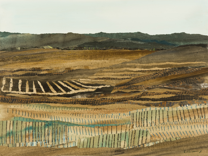 Marzia Colonna 8. Tuscan Fields collage 24 x 31 in 60 x 79 cm £4550 ...