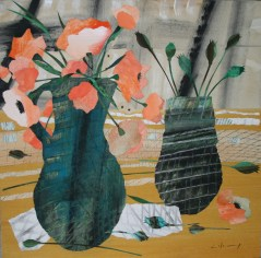Marzia Colonna Poppies and poppy heads signed limited edition giclée print edition of 50 £155 mounted, £225 framed