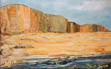 West Bay signed limited edition giclée print 20 x 31 inches, 51 x 80cm, edition of 60, £499 mounted, £599 framed