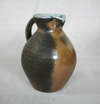 Svend Bayer 17. Jug, wood ash glaze, 26 x 19 cm SOLD