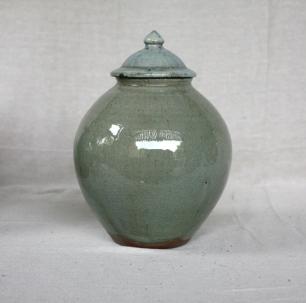 Svend Bayer 19. Lidded Jar, celadon glaze, 34 x 23 cm £380