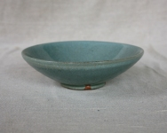 Svend Bayer 26. Bowl, celadon glaze, 8 x 25 cm SOLD