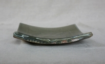 Svend Bayer 28. Platter with Fish from the side 5 x 23 x 23 cm £130