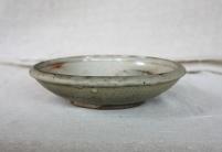 Svend Bayer 34. Dish with bird, shino glaze, 6.5 x 26.5 cm £130