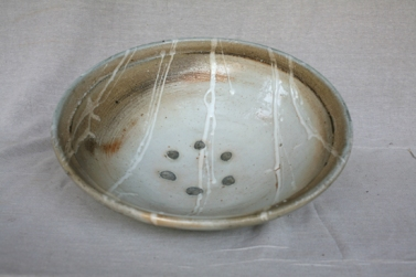 Svend Bayer 6. Large Bowl with shino glaze, from above 14.5 x 48 cm SOLD