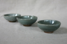 Svend Bayer 70. 72 Small bowls with celadon glaze, 5 x 11.5 cm £22 each and 68 (SOLD)