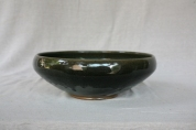 Svend Bayer 8. Bowl from side , new granite glaze, 15 x 43 cm £490